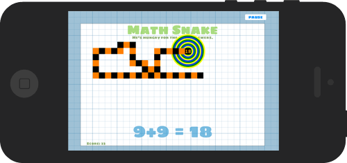screenshot of Mathsnake