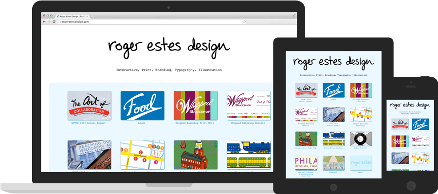 screenshot of Roger Estes Design's Website